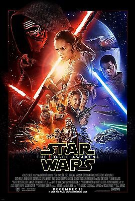 Star Wars The Force Awakens ORIGINAL Double-Sided DS 27x40 Movie Poster Ep VII