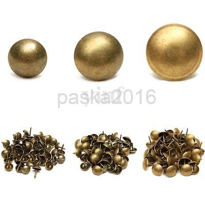 100x Antique Bronze Upholstery Nails Furniture Studs/Tacks/Pins 4 Sizes
