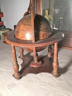 MAPPAMONDO IN LEGNO VINTAGE MADE IN ITALY 60s
