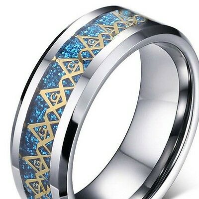 Freemason ~ Size:11 ~ S/steel  ~ Ring -- (Great_Christmas_Gift)