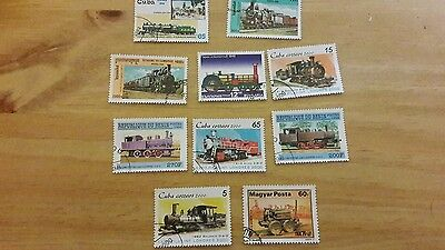 various train stamps