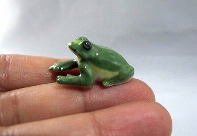 Frog Ceramic Dollhouse Art Animal Miniature Figurine Decorative Collectible#17