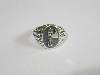 WW2 Fasces Italian Sterling Silver Ring