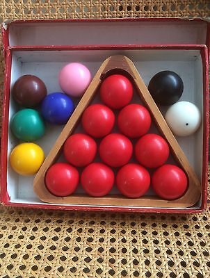 SNOOKER BALLS - 1 ¾ INCHES (44 mm) – AND FRAME