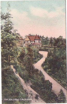 Vintage Postcard  -Alum Chine Looking North Bournemouth  PM FE 28 07 Dble Circle