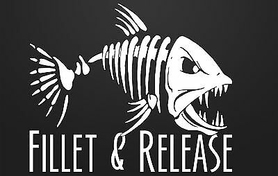 Fillet and Release Decal Many Color Choices Free Shipping