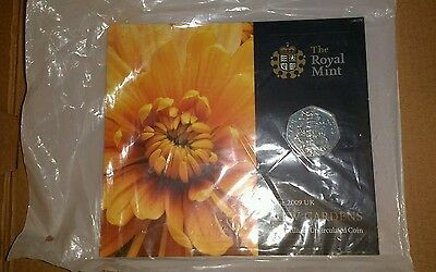 Uncirculated Kew Gardens 50p Coin Issued By The Royal Mint