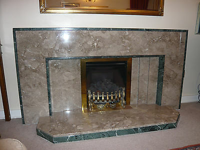 Art Deco Style Marble Fireplace