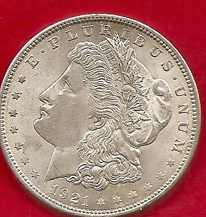 'the Cowboy Morgan Dollar From The Usa . Dated As 1921 Last Year Minted Morgan