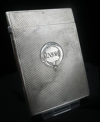Silver Card Case, Birmingham 1861, Frederick Marson, Antique