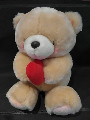 New Large Hallmark Forever Friends Bear Holding Red Heart Soft Cuddly Plush Toy