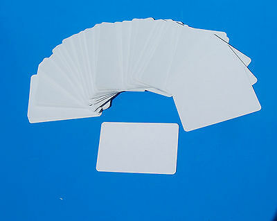 BLANK CARDS- 100x blank both sides flash cards,sight & learning, game play, ID