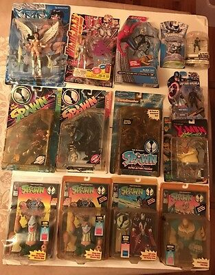 Vintage-New, Toy Lot (14) Warehouse Damaged Items! Spawn, Wildcats, Mercy & More