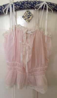 Maggie Clarke Baby Dolls French Knickers/Camisole Set Vintage Baby Pink