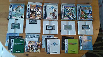 LOT 5 JEUX GBA COMPLET FR (tales of phantasia, breath of fire, sword of mana)