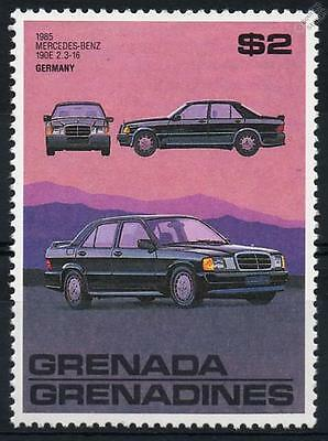 1985 MERCEDES BENZ 190E 2.3-16 Car Stamp (Grenada)