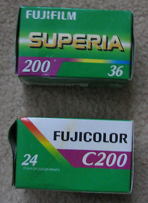 Fuji Superia xtra 400 35mm colour negative film - 2 rolls lomo / lomography bnib
