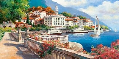 NEW! Castorland Landscape of the Lake Como 4000 piece scenic jigsaw puzzle