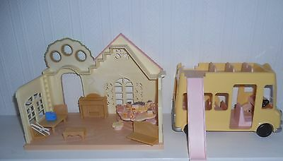 Sylvanian Family, Forest Nursery, Nursery Double Decker & Nursery Party No Boxes