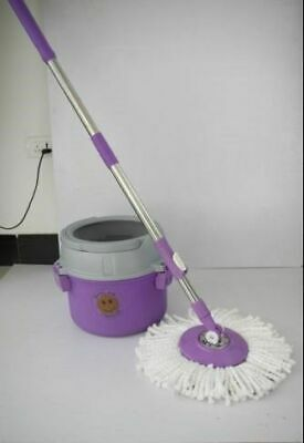 Latest single bucket 360° Deluxe rotating floor Spin Easy Magic MOP Wring steel