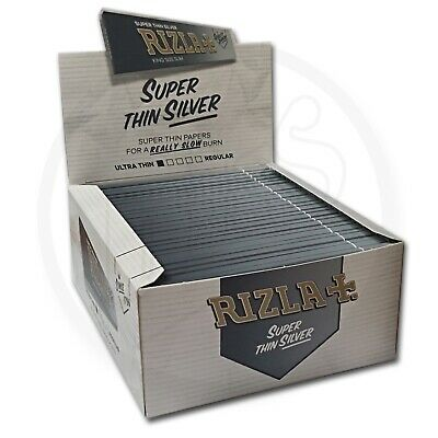 Rizla Silver King Size Slim Genuine Cigarette Smoking Rolling Papers Original