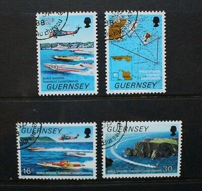 GUERNSEY 1988 Powerboat Championships. Set of 4. Fine USED. SG3429/432.