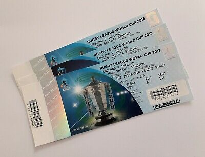 RUGBY LEAGUE WORLD CUP 2013 MEMORABILIA - Ticket Stub England v Ireland 02/11/13