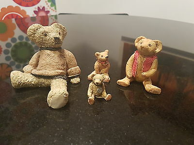 Peter Fagan Colour Box bear set, 'Buster', 'Ben', 'Sopwith' and 1 unknown