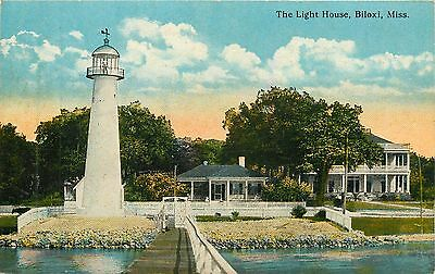 Mississippi, MS, Biloxi, The Light House Early Postcard