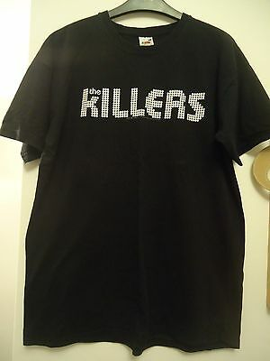 *the Killers* Black Short Sleeved T-Shirt Tee Top Large Music Band Group Logo