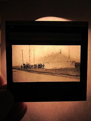 WW1 Boulogne - Group Of Soldiers Outside YMCA Magic Lantern Glass Slide - fd12c