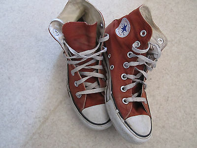 Baskets ALL STAR CONVERSE rouille orange pointure 35