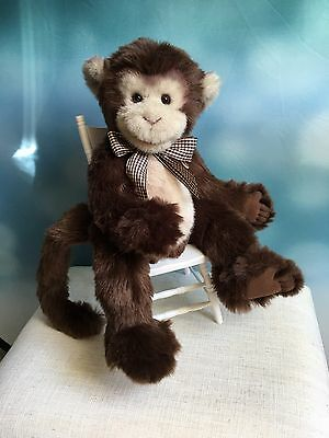 Adorable Charlie Bears Cheeky Monkey Retired with Tags Excellent !!