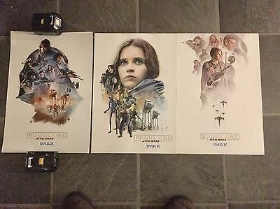 Star Wars Rogue One IMAX Posters 1 - 3 100% Genuine