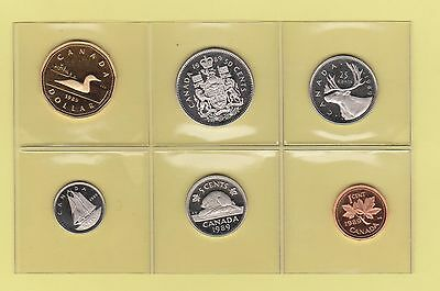 The  Canada Proof 1989  Coins  Set Unc.