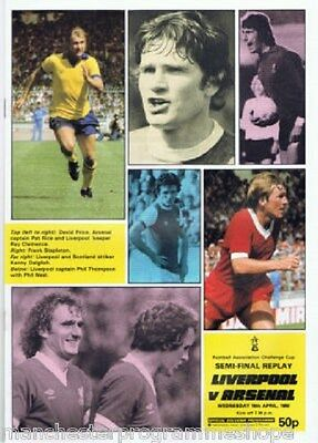 1980  FA Cup  Semi Final Replay (First One)----Liverpool v Arsenal