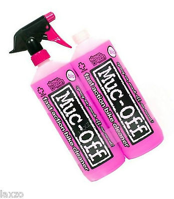 Muc-Off Twin Pack - Nano Tech Spray Bicycle Bike Cycle Cleaner - 2 x 1 Litre