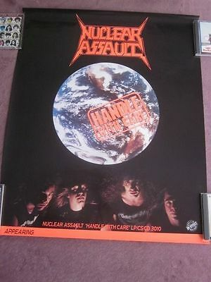 Nuclear Assault 1989 Handle With Care Tour Poster Lilker Bramante Evans Connelly