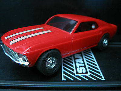 Eldon Rare Red Ford Mustang Slot Car 1/32 Scale Slot cars