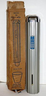 NEW Vintage Metal Solo Cup Dispenser 1367 Wall Mount Mid Century Holds #44 Cups
