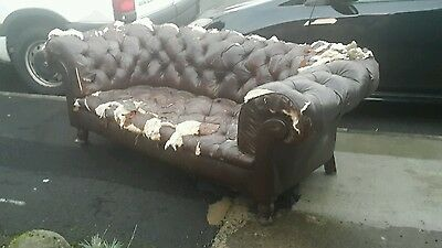 Antique chesterfield sofa upholstery project.