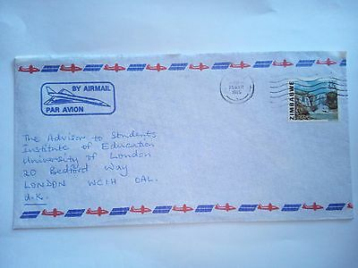 Zimbabwe Harare 1985 Stamped Cover Air Mail To London Uk Stamps