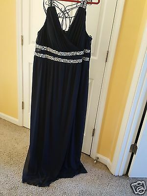 Navy Blue Evening Gown, Plus size  24, NWT
