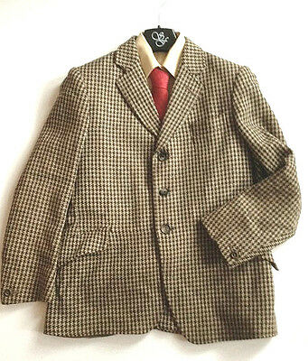 Boys Pure Wool Tweed Showing Or Hunting Jacket Size 28