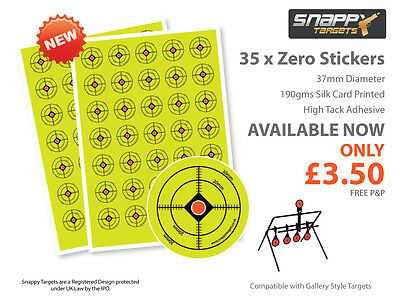 35 x Target Self Adhesive Stickers for Airgun, Air Rifle, Plinking and Zeroing