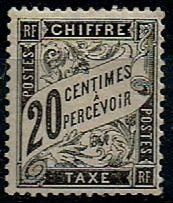 TIMBRE FRANCE 1881/92 TAXE n°17  NEUF* COTE 500€ SUPERBE