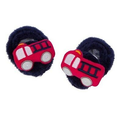 Gerber Baby Boy Navy/Red Firetruck Booties Size 0-6M BABY CLOTHES SHOWER GIFT