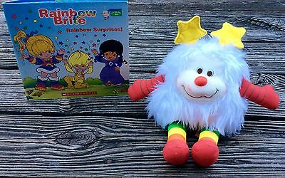 RAINBOW BRITE Lift The Flap Surprises Book + Fuzzy White Plush Sprite Doll See