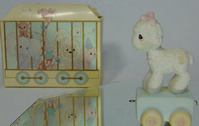 Boxed 1985 Precious Moments 1 Year Old HAPPY BIRTHDAY LITTLE LAMB Sheep FIGURINE
