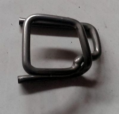 "Self Locking Buckle Clip for 1/2"" Poly Strapping - 100 pack"